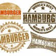 Hamburger stamp — Stock Vector
