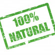 Stock Vector: 100 % natural stamp