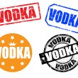 Vodka stamps — Stockvectorbeeld