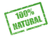 100 % natural stamp — Vetorial Stock