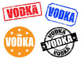 Vodka stamps — Stock Vector