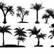 Palm tree silhouettes — Stock Vector #7351110