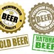 Set of beer label and stamps — Stock Vector