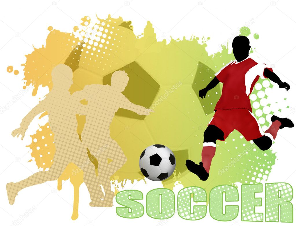 Soccer poster background, vector illustration — Stock Vector #7374044