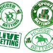 Set of  betting stamps - Stock Vector