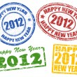 2012 new year stamps — Stock Vector