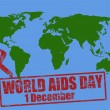 World aids day — Stock Vector