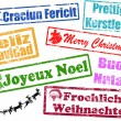 Merry Christmas stamps - Vettoriali Stock