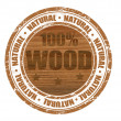 Stock Vector: 100% wood stamp