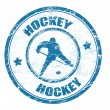 Hockey stamp — Stock Vector