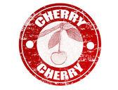 Cherry stamp — Stock Vector