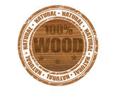 100% wood stamp — Stock Vector