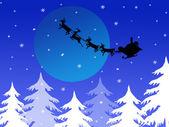 Santa`s sleigh — Stock Vector