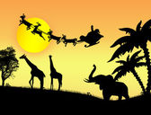 Santa Claus in Africa — Vettoriale Stock