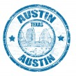 Austin stamp — Stock Vector