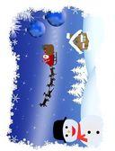 Santa's sleigh — Stock Vector