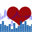 Heartbeat concept - Stock Vector