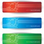 Circuit board banners — Stock Vector #6867807