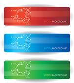Banners de placa de circuito — Vetorial Stock