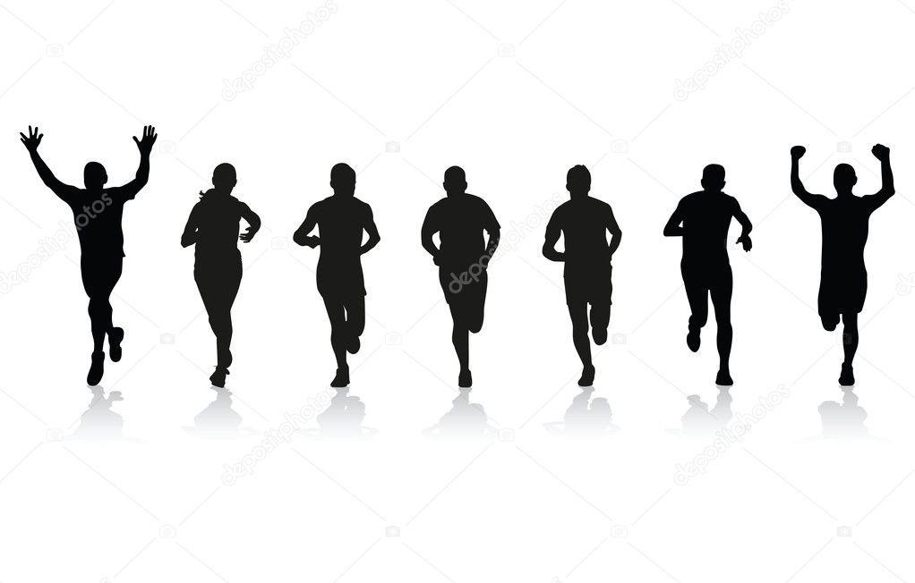 跑步运动员 — 图库矢量图像08