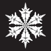 Sneeuwvlok silhouet — Stockvector