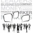 Business silhouettes — Stock Vector