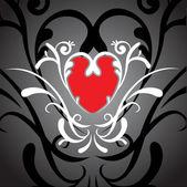 Love swirling background — Stock Vector