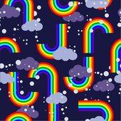 Regenbogen-wiederholung — Stockvektor