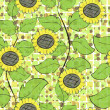 Sunflowers repetition — Vector de stock #7120770