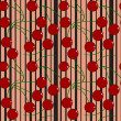 Seamless fruit pattern - Stock vektor