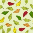 Seamless foliage pattern - Stock vektor