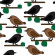 Bird repetition — Vector de stock #7121114
