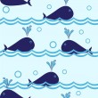 Seamless dolphin pattern - Stock Vector