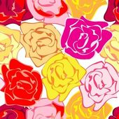 Roses repetition — Stock Vector