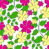 Sömlös blommor mönster — Stockvektor