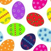 Easter eggs repetition — Stock Vector