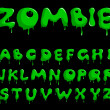 Zombie alphabet - Stock Vector