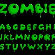 Stock Vector: Zombie alphabet