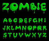 Zombie alphabet — Stock Vector