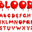 Stock Vector: Blood alphabet