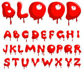 Blood alphabet — Stock Vector