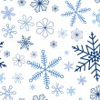 Snowflake seamless background — Stock Vector