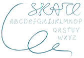 Skate alfabetet — Stockvektor