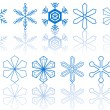 Royalty-Free Stock 矢量图片: Snowflakes collection