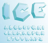 Ice alphabet — Stock Vector