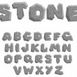 Stock Vector: Stone alphabet