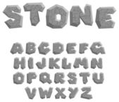 Stone alphabet — Stock Vector