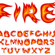 Flame alphabet - Stock Vector