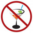 no drinking — Stock Vector