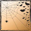 Spider Web and Bats — Stock Vector #6881952